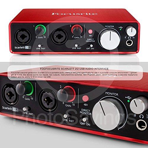 M-Audio Axiom AIR Mini 32 USB MIDI Keyboard with Focusrite Scarlett 2i2 USB Audio Interface, Marantz Pod Pack 1 USB Microphone Kit, and Premium Bundle