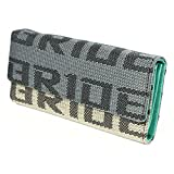Bride Racing Women's Ladies Wallet Clutch Trifold Fabric Leather Bride Gradation (Mint Teal)