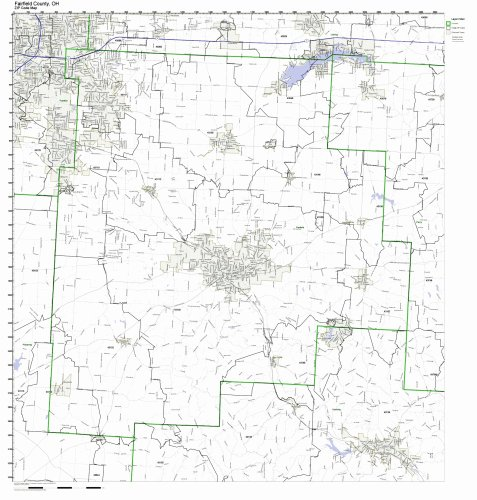 Fairfield County, Ohio OH ZIP Code Map Not Laminated]()