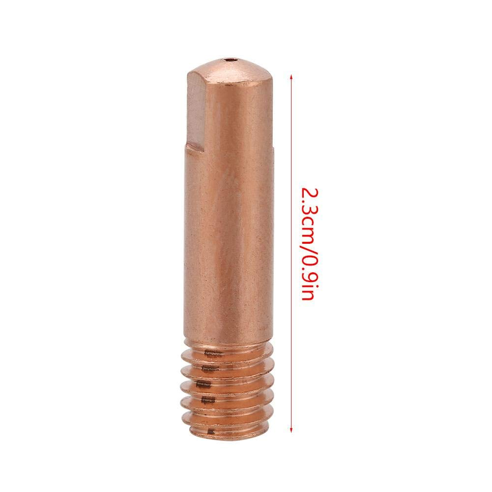 1.0 Punta Di Contatto In Rame per Consumabili Torcia 15AK MAG//MIG 0,8//1,0 Mm 20 Pezzi KEYREN Accessorio per Pistola per Saldatura