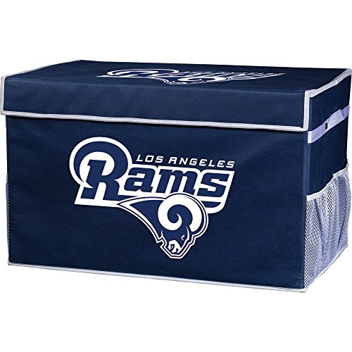 (Franklin Sports Los Angeles Rams Collapsible Foot Locker Storage Bins - Team Logo Home Organizer - 26
