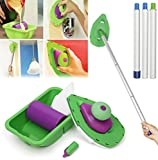 2 Sponge Brush 3PCS Sticks Point And Paint Roller and Tray Home...