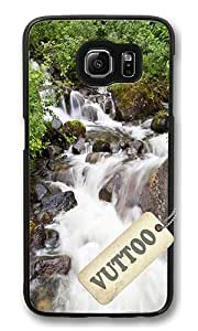 Samsung S6 Case,VUTTOO Stylish Beautiful Waterfall Hard Case For Samsung Galaxy S6 - PC Black