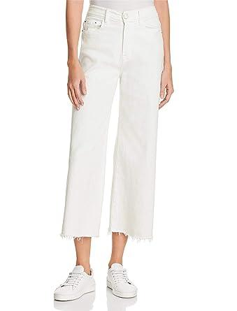 966d519c14 H HIAMIGOS Jeans Droit Femme Taille Haute Jupe-Culotte Coupe Large Pantalon  Ample Vintage en