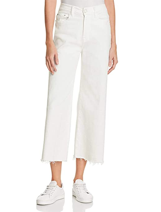 H Hiamigos Women Casual Loose Fit Bootcut Jeans Wide Straight Leg Frayed Hem by H Hiamigos