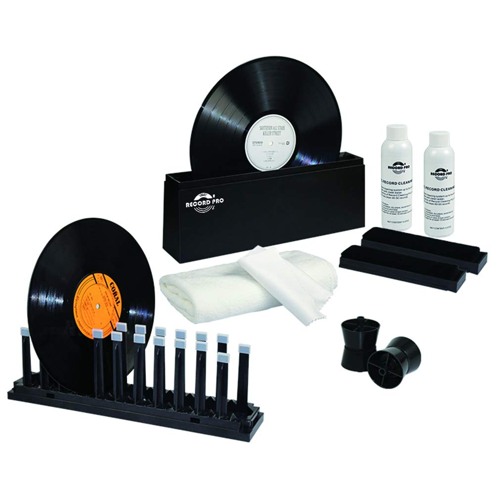Record Pro Vinyl Record Deep-Clean Washer Kit Accommodates 33, 45, and 78s Making Cleaning Your Records Fast and Easy