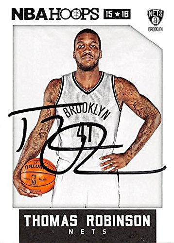 (Thomas Robinson autographed Basketball Card (Brooklyn Nets) 2015 Panini Hoops #175 - Unsigned Basketball Cards)