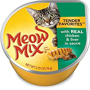 Meow Mix Tender Favorites Poultry & Beef Wet Cat Food Variety Pack