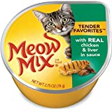 Meow Mix Tender Favorites Chicken and Liver, 2.75 oz (Pack of 12)