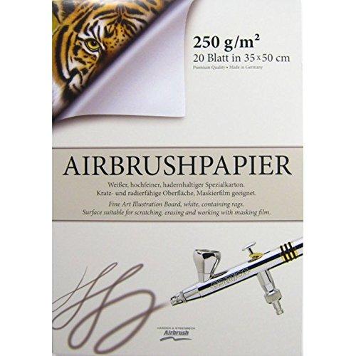 20 fogli cartoncino aerografia Harder & Steenbeck 35x50 cm