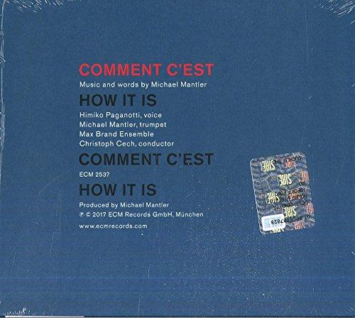 Comment Cest By Michael Mantler Amazoncouk Music