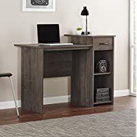 Computer Student Desk with Adjustable Shelf - Perfect for Home Office, Kids Bedroom, Apartment, Library or Study - Pull Out Drawer for Accessory Storage - PEN INCLUDED (Rodeo Oak)