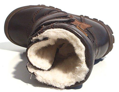 FRODDO Leder TEX Unisex Stiefel Schafwolle gefüttert braun