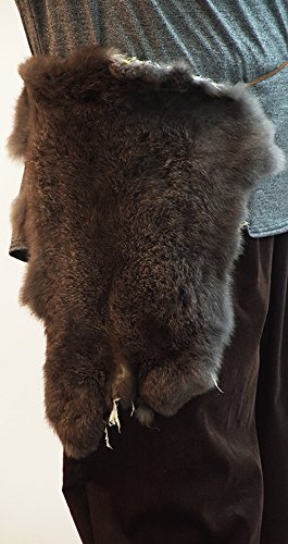 [Medieval-LARP-SCA-Warrior-Viking-Unisex-RABBIT FUR WAIST HANG/PELT ACCESSORY One Size] (Larp Costumes Uk)