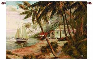 Manual Key West Hideaway Grande Tapestry Wall Hanging, 47 X 35-Inch
