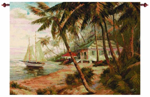Manual Key West Hideaway Grande Tapestry Wall Hanging, 47 X 35-Inch