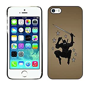 GagaDesign Phone Accessories: Hard Case Cover for Apple iPhone 5 5S - Ninja Warrior by Maris's Diary