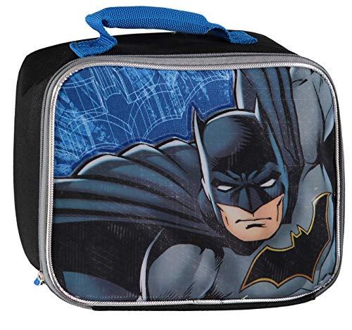 DC Batman Rectangle Insulated Lunch Box (Blue/Black)