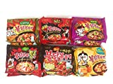 #9: Samyang Spicy Chicken Hot Ramen Noodle Buldak Variety Collection: Nuclear, Original, Cheese, Curry, Stew Type, and Mala