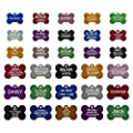 Aluminum Pet ID Tags - Engraved Personalized Dog Tags, Cat Tags Front & Back up to 8 Lines of Text - Bone, Round, Heart, Flower, Paw, House, Star, Rectangle,Shirt, Cat, Mouse