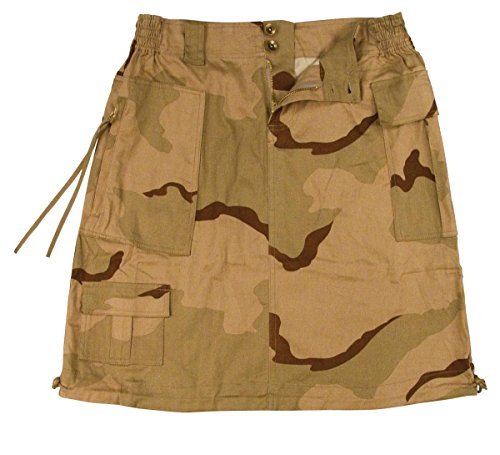 Camo Knee Length Skirt - Rothco Women's Tri-Color Camo Knee Length Skirt, X-Small