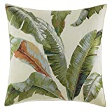 Tommy Bahama Palmiers Embroidered Palm Throw Pillow, 20x20, Medium Green