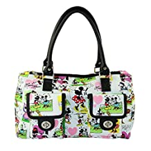 Disney Mickey Mouse Cartoon Handbag Purse White Pockets