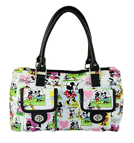 Mouse Purse (Disney Mickey Mouse Cartoon Handbag Purse White)