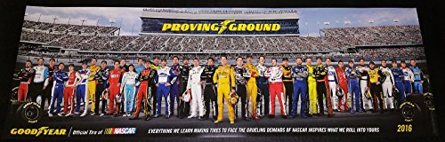 Goodyear Nascar 2016 Poster Original Limited Edition