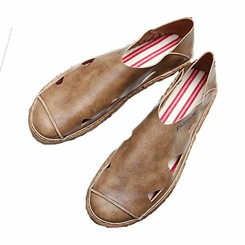 Zapatos Baotou De Playa Wlg Los Hombres Suave Casuales Verano Sandalias 2018 Marrón Fondo Hombres Transpirable Y Hxxw1YW