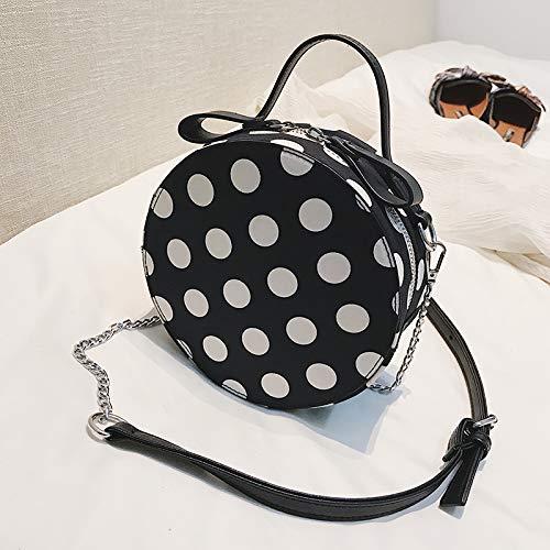 fée Sac Mode Portable marée Sac épaule Sauvage Noir Rond Bag WSLMHH de Messenger Petit Femme PXIWd