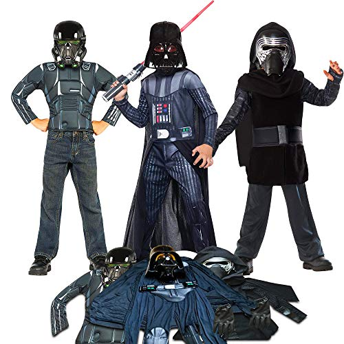 Star Wars Dress Up Costumes for Boys Kids, Small Size 4-6 ~ 3 Costume Play Pack]()