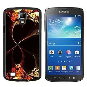 KLONGSHOP // Cubierta de piel con cierre a presión Shell trasero duro de goma Protección Caso - Líneas abstractas florales - Samsung Galaxy S4 Active i9295 //