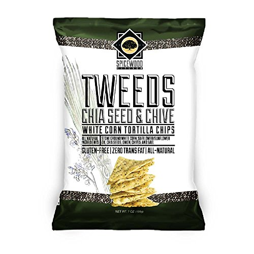 TWEEDS White Corn Chips - Gluten Free - All Natural (Chia Seed & Chive) - Chives 100 Seeds