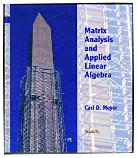 Matrix analysis and applied linear algebra (0898714540) | Amazon Products