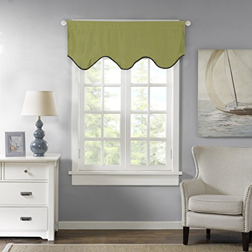 H.Versailtex Thermal Insulated Curtain Valances For Kitchen, Bath, Laundry,  Bedroom, Living Room   50x17 Inch In Olive