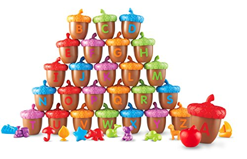 Alphabet acorns help children learn letter identification and much more