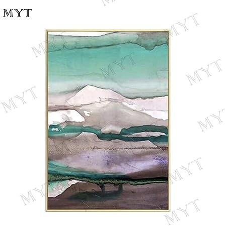 Myt Impression Brillant Bleu Et Blanc Célèbre Paysage