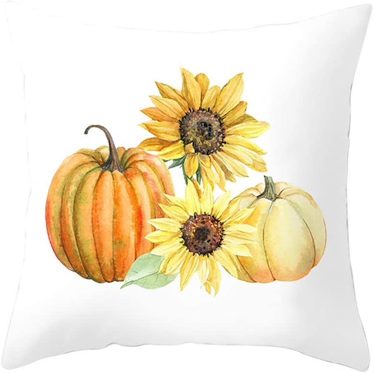 18x18, M TiTCool Halloween Pillow Cover Pumpkin Throw Pillows Cushion Case for Sofa Couch Decorative Pillow Covers Fall Decor 18 x 18