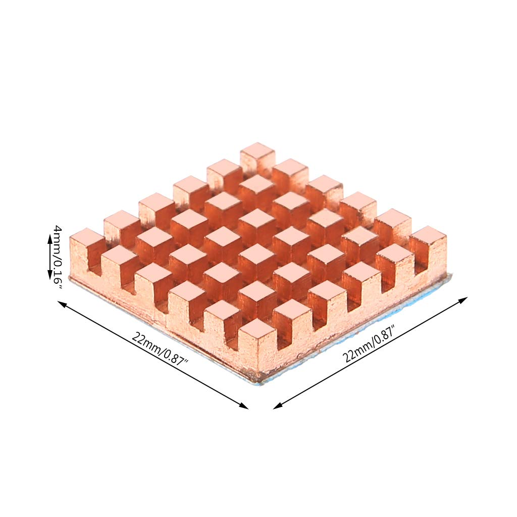 Baiko Cooler Pure Copper Heat Sink Back DDR Memory RAM Cooling for MOS GPU IC Chip