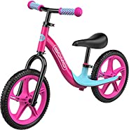 GOMO Balance Bike - Toddler Training Bike for 18 Months, 2, 3, 4 and 5 Year Old Kids - Ultra Cool Colors Push