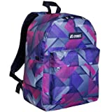Everest Classic Pattern Backpack, Purple/Pink Geo, One Size