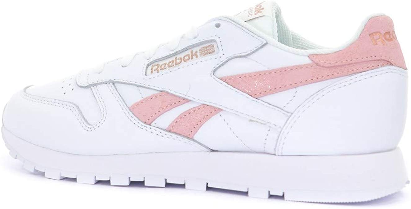Reebok Classic Leather Exotic Chaussures Femme Blanc: Amazon