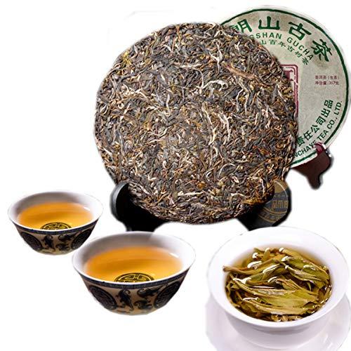(Chinese Pu'er tea 357g(0.788LB)Raw Puer tea Green tea Brown Mountain Ancient Tea Banzhang Green Cake Tea Old Pu-erh tea Old trees Pu erh tea Health Care Pu er tea Healthy Puerh tea)