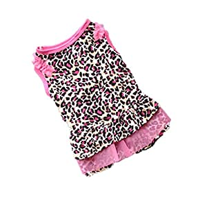 Pet Clothes,IEason Hot Sale! American Flag Cute Pet Vest Clothing Small Puppy Costume Summer Apparel (XS, Pink)