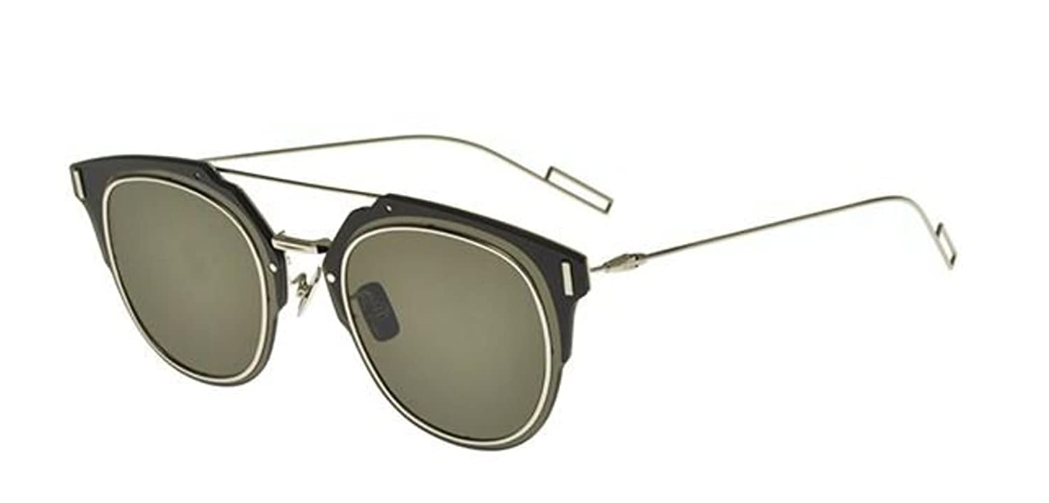 Amazon.com  New Christian Dior COMPOSIT 1.0 010 2M black palladium grey  brown Sunglasses  Clothing 0ae18477a4cf