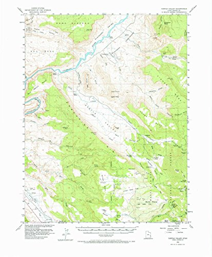 YellowMaps Castle Valley UT topo map, 1:62500 Scale, 15 X 15 Minute, Historical, 1954, Updated 1973, 21.7 x 17.9 in - ()