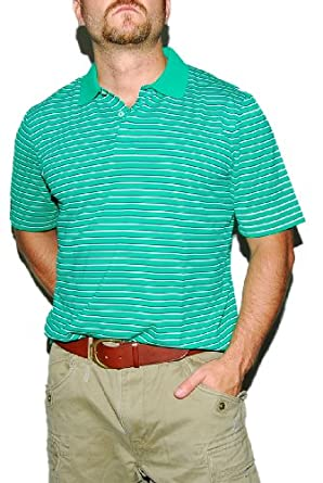 ee1c01865 RALPH LAUREN RLX Mens Golf Active Sport Tennis Shirt Green White Spandex XXL