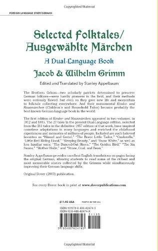 Selected Folktales/Ausgewählte Märchen: A Dual-Language Book (Dover Dual Language German) by Dover Publications