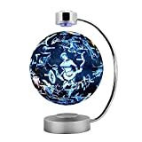GLOBE AS 8' Magnetic Floating Globe and Constellation LED Lights - Anti-Gravity Floating Rotating Earth Map - Education Gifts Home Desk Display Decoration, Creative Birthday/Christmas/Anniversary